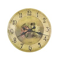 Bulova Whittingham Wall Clock - Antique Fruit Pattern Dial