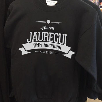 fifth harmony lauren jauregui birth popular crew neck sweatshirt pullover long sleeved