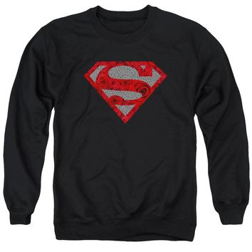 Superman - Elephant Rose Shield Adult Crewneck Sweatshirt