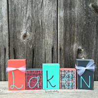 Personalized Name Blocks Nursery Decoration Kids Name Blocks Baby Shower Gift