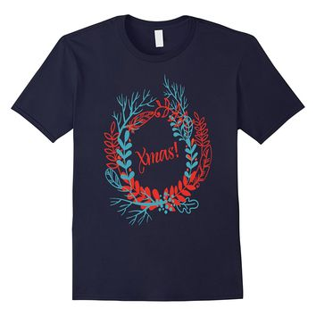 Wreath xmas t-shirt