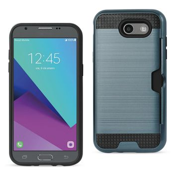 New Emerge Slim Armor Hybrid Case Card Holder In Navy For Samsung Galaxy J3