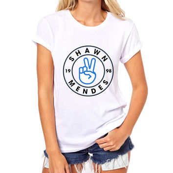 Shawn mendes designs T Shirt Women 2017 New Latest Fashion Fantastic Popular Music Singer Summer Tops Female Tees Short Sleeve