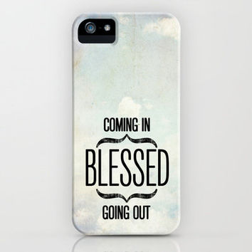 Deuteronomy 28:6 Blessed iPhone Case by Pocket Fuel | Society6