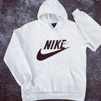 VONE05 NIKE' Fashion Print Hoodie Top Sweater Sweatshirt Coat White