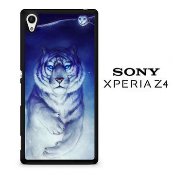 White Tiger Owl F0717 Sony Xperia Z4 Case