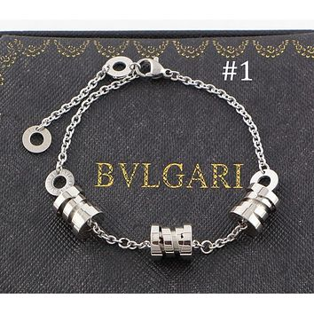 BVLGARI three-ring three-color spring bracelet titanium steel color matching couple jewelry F-HLYS-SP #1