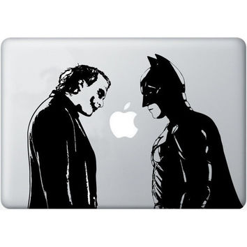 Batman vs Joker, The Dark Night, Joker decal, sticker for Apple Computer,