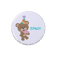 Birthday Bear- Add A Name Party Favor