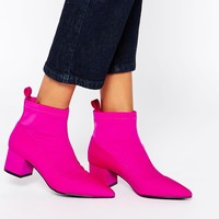 ASOS RAISE UP Pointed Ankle Boots at asos.com
