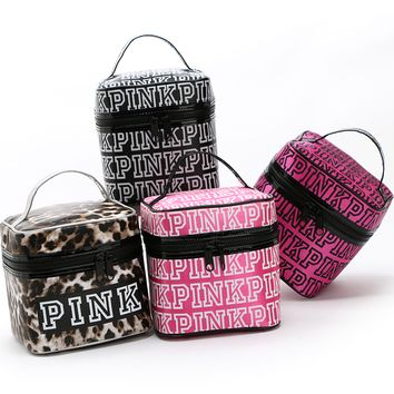 Victoria's Secret PINK bag cosmetic bag double zipper bag cover