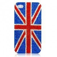 iphone 4G Design 435 New Bling Bling Crystal UK Flag