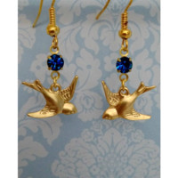 Sapphire Sparrow Earrings