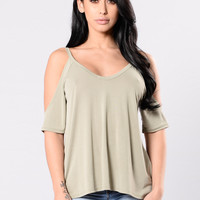 My Way Tee - Light Olive