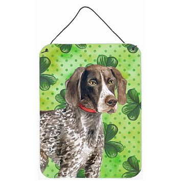 German Shorthaired Pointer St Patrick's Wall or Door Hanging Prints BB9815DS1216