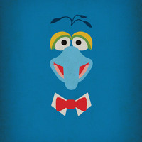 The Muppets Show Vintage Art Gonzo Retro Style Minimalist Poster Print Art Print by The Retro Inc