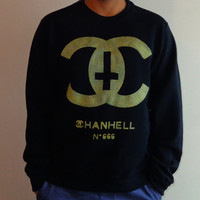 Black and Gold Chanhell Sweatshirt