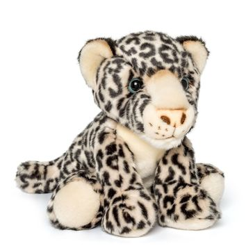 "12"" Stuffed Snow Leopard Plush Floppy Animal Kingdom Collection"
