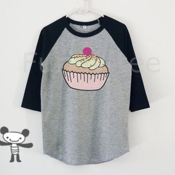 Cupcake kids raglan shirt Harry Potter toddlers boys girls clothing size S M L XL