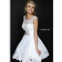 Sherri Hill 4302 Beaded Cocktail Dress