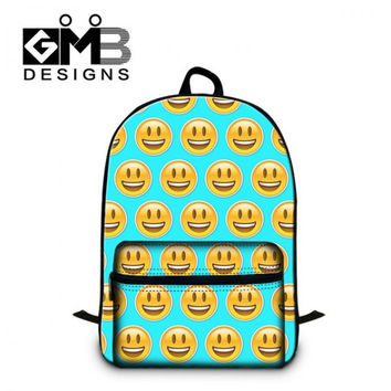 Unique 3D Smiley Emoji Face Original Design Laptop Backpack