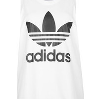 Trefoil Tank by adidas Originals - White