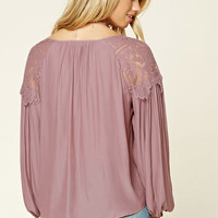 Contemporary Lace-Paneled Top