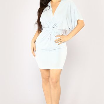 Good Old Daze Mini Dress - Light Blue