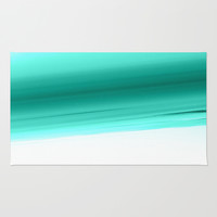 Mint Ombre Rug by SimpleChic