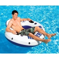 4) INTEX River Run I Inflatable Water Floating Tubes
