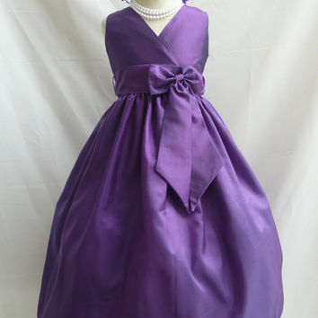 V Neck Dress (Flower Girl Dress)