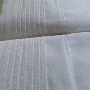 Pleaded Cotton  Luxury 3pcs King/queen size  BEDDROOM SET Percale 250TC cotton  with pleated cotton ending