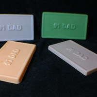 dad soap ( 4 ) - fathers day gift - daddy - gift for dad - new dad - gift for father - dads day - handmade soap - Pick your Color and Scent