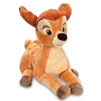 "Licensed cool 2014 Disney Store EXCLUSIVE 14"" Bambi Movie Plush Deer Toy Forest Animal NEW"