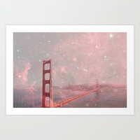 Stardust Covering San Francisco Art Print by Bianca Green