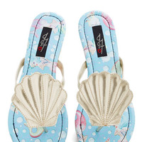 ModCloth Statement Seashell Belle Sandal