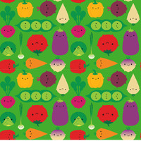 Removable Wallpaper - Veggies by Marceline Smith