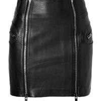 McQ Alexander McQueen - True Black Leather Skirt