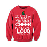 Home Alone - Off The Shoulder - Merry Christmas Ya Filthy Animal - Ugly Christmas Sweater - Red Slouchy  Sweater