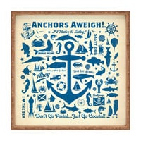 Anderson Design Group Anchors Aweigh Square Tray