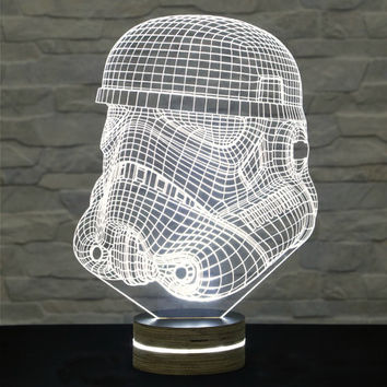 Stormtrooper Shape, Star Wars, 3D LED Lamp, Kid's Room Decor, Amazing Effect, Nursery Light, Plexiglass Lamp, Decorative Lamp, Acrylic Lamp