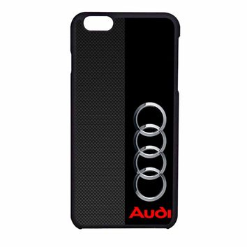 Audi Logo On A Field Of Black And Simulated Carbon Fiber iPhone 6 Case