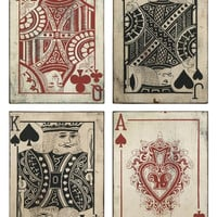 Leonato Playing Card Wall Decor - Set of 4