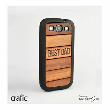 Best Dad Wood Print Samsung i9300 Galaxy S3 III