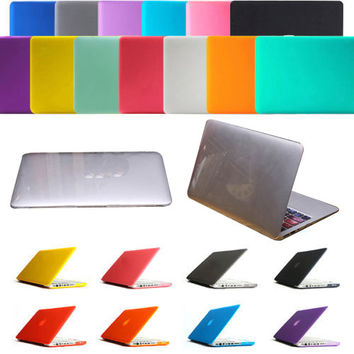 "Laptop Clear Crystal Hard Cover Case Rubberized Cover Case Hard Shell For Macbook Pro Air Retina 11 12 13 15 11.6"" 13.3"" 15.4"""
