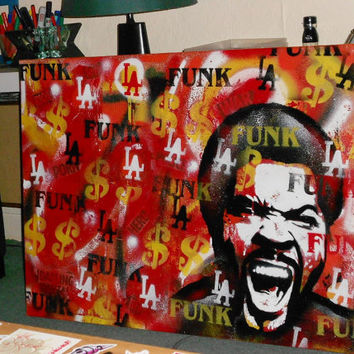 l.a.funk,ice cube painting,stencil,abstract,graffiti,pop art,hip hop,rap,music,home,living,westside,wicked,rapper,los angeles,america