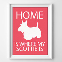 Scottie Print, Scottie Dog Wall Art, Scottie Decor, Aberdeen Terrier, Scottish Terrier Art, Scottie Gift, Scottie Print, Scottie Dog