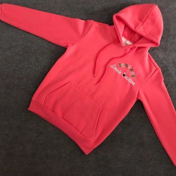 Louis Vuitton : Champion Flower Rose Embroidered Sweater Hoodie Pullover