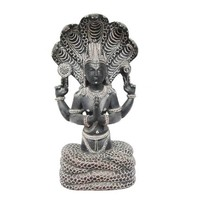 "Mogul Yoga Gift Idea- Patanjali Gorara Stone Statue Meditation Sculpture 5 Headed Serpent 8"" - Walmart.com"