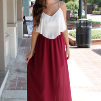 Team Takeover Maroon Maxi Skirt